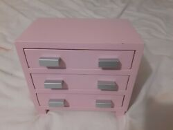 American Girl Bouquet Nightstand Pink Dresser Retired 18quot; Doll Furniture $39.99