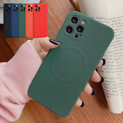 For iPhone 13 Pro Max 12 Pro Max Phone Case Slim TPU Mag Safe Magnetic Cover $10.29