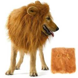 Pet Dogs Lion Mane Wig Dog Halloween Costume Clothes Fancy Dress Up With Ears $13.58