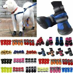 Pet Dogs Cat Rain Boots Feet Paw Protective Anti Slip Sock Booties Puppy Shoes $8.26
