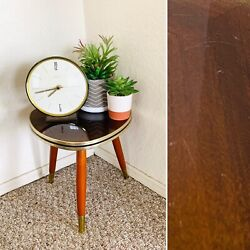 50s Mid Century Plant Stand Table Tripod Side End Table Vintage Atomic $89.00
