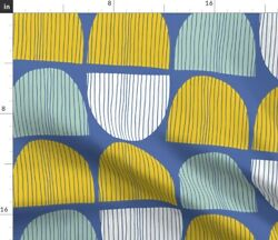Abstract Geometric Modern Home Decor Mid Fabric Printed by Spoonflower BTY $22.00