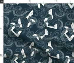 Art Deco Large Scale Art Deco Braids Spoonflower Fabric by the Yard $14.00