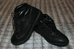 Timberland Leather Field Boots Hiking Black Mens Size 9.5 #13061 $29.95