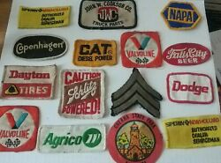 Lot 15 trucker hat uniform embroidered patches CAT Agrico Falls City NAPA more $39.95