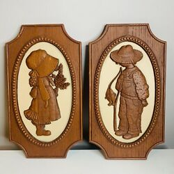 Vintage Holly amp; Robby Hobby Wall Plaque Set $30.00