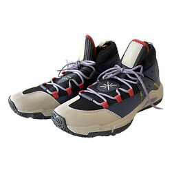 LI NING Wade All Day 5 Size 12 Mens Basketball Shoes Lining Blue Red Cushioning $65.00