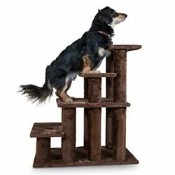 30In High Tall Pet Dog Cat 4 Steps Stairs Ladder Ramp Bed Climb Easy Step Helper $75.79