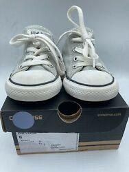 Converse All Star Boys Shoes Size 8 EUC w Box Mirage Gray Infants Toddler $19.99