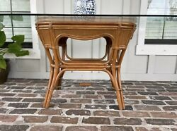Tommy Bahama Style Glass Dining Table Vintage Rattan Wicker Glass NOT Included $359.00