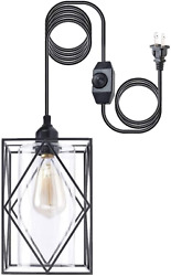 HMVPL Plug in Pendant Lights with Dimmer Switch Farmhouse Hanging Lights with $44.13
