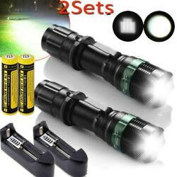 Tactical 990000Lumens Zoomable Focus LED Flashlight Super Bright Torch Light USA $11.53