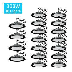 18 Pcs 300W UFO Led High Bay Light For Warehouse Factory Led Commercial Lights