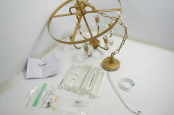 SEE NOTES Wellmet 6 Lights Gold Crystal Chandelier Candle K9 DS CCP004 GOLD US $102.55