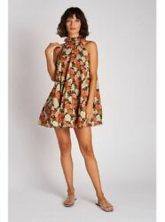Rhode Billy Tiered Floral Printed Flared Ruffle Mini Dress Babydoll XS 222481 $234.96