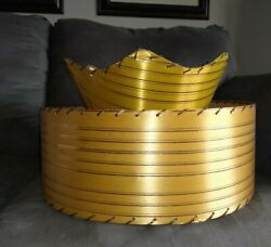 Vintage Lamp Shade MCM Two Tier Mid Century Modern $85.00