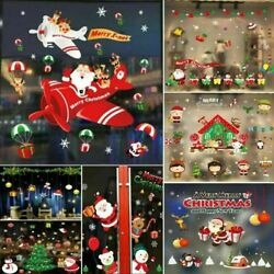 Christmas Removable Window Stickers Festival Xmas Decal Wall Home Shop Decors $8.19