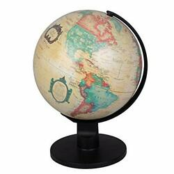 World Globe Antique Desktop 6quot; Spinning Globe for Kids and Geography Lovers $13.95