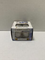 Yankee Candle White Christmas 12 Tea light Candesl Retired New $25.99