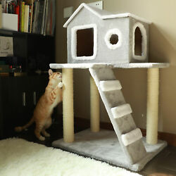 Cat Tree Condo Tower with Scratching Posts Kitty Trees House Bed Furniture $52.81