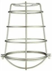 Westinghouse 85031 Cylindrical Metal Cage Shade Brushed Nickel 8quot; FREE SHIP $18.75