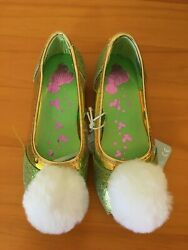 NWT Disney Store Tinker Bell Costume Shoes Princess Girls Peter Pan many sizes $26.99