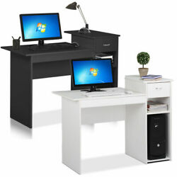 Small Computer Study Student Desk Laptop Table with Drawer Home Office Furniture $32.99