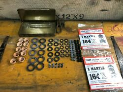 assorted washers amp; seals for 10 Tilley lamps plus 2 x 164X mantles in tin box $52.19