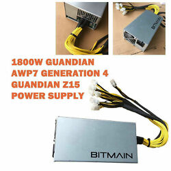 Bitmain APW7 1800W 6 Pin Connect Bitcoin Miner For Antminer D3 S9 S7 L3 AntMiner $159.99