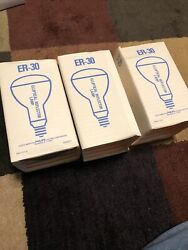 LOT 3 NEW PHILIPS LIGHT BULB ER30 75 Watt FROSTED REFLECTOR INCANDESCENT Tested