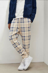 Champion L Blue Plaid Sweat Pants Joggers Urban Outfitters Exclusive LK NU $39.99