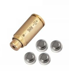 Ohhunt Brass CAL 9mm Red Laser Bore Sight Cartridge Bullet Shap w 2set battery $7.32