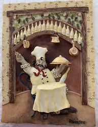 Fat Italian Chef 3 D Resin Wall Plaque By Riggs Bee $10.88