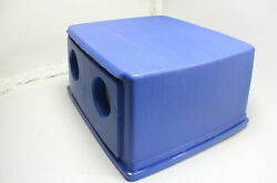 Rubbermaid Commercial Bottle Can Recycling Lid 56 Gallon Blue FG256L00DBLUE