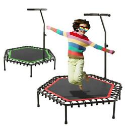 40quot; Mini Foldable Trampoline With Bar Home Gym Rebounder Bouncing Exercise 2021 $79.99