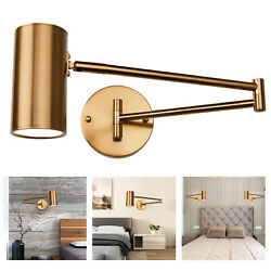 Industrial Retro Brass Swing Arm Wall Sconce Light Adjustable Wall Lamp Fixture $32.29