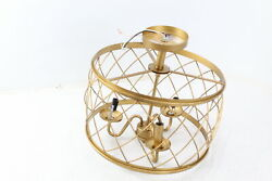 JONATHAN Y JYL9037A 15in Metal LED Semi Flush Mount Ceiling Dimmable Gold $83.86