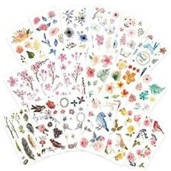 Watercolor Birds and Flowers Stickers Set Decorative Sticker for $16.02