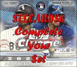2021 TOPPS CHROME BASE PARALLELS amp; INSERTS COMPLETE YOUR SET MINT with PHOTOS $0.99