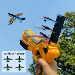 Toy Gun Catapult Airplane Foam Plane Ejection One Click Bubble Launcher Shooting $22.99