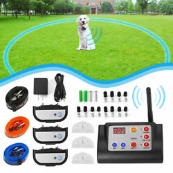 Wireless Electric Dog Fence Pet Containment System Shock Collar For 1 2 3 Dog US $78.99