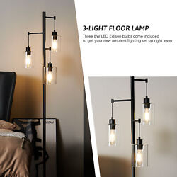 64 in Contemporary Floor Lamp Standing Lamp for Bedroom Living Room More Black $88.19