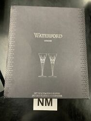 Waterford Lismore Toasting Flutes Set of 2 Open Box $125.00