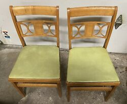 Vintage Mid Century Norquist Coronet Folding Chairs 2 Chairs $105.00
