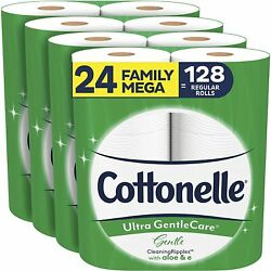 Cottonelle Ultra ComfortCare Toilet Paper with Cushiony CleaningRipples 24 $38.95