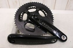 Specialized S WORKS power cranks DUAL Left Right crank 172.5mm 52 36T $1163.99