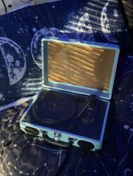 used light blue crosley record player