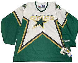 CCM Dallas Stars White NHL Hockey Sewn Jersey Mens Large With Tags $50.00