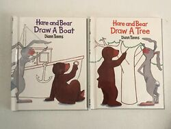 NEW LOT OF 2 BOOKS quot;HARE AND BEARquot; KIDS DRAWING BOOKS $5.00