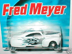 2001 Hot Wheels limited edition Fred Meyer exclusive TAIL DRAGGER white w flames $4.99